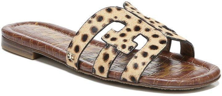 Bay Genuine Calf Hair Cutout Slide Sandal