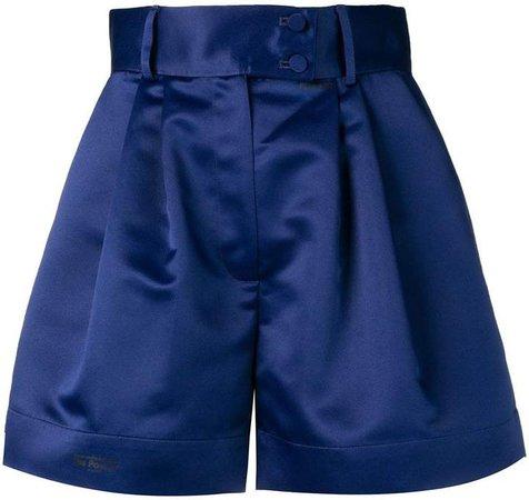 Styland sheen flared shorts