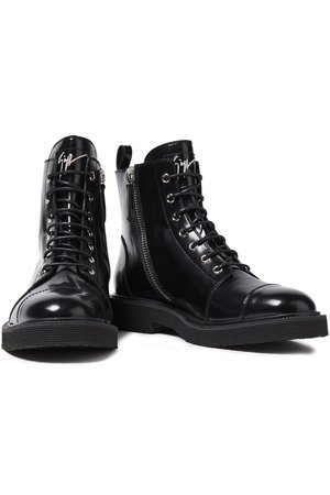 Black Hilary patent-leather ankle boots | Sale up to 70% off | THE OUTNET | GIUSEPPE ZANOTTI | THE OUTNET