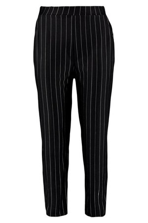Pinstripe Relaxed Trouser | Boohoo