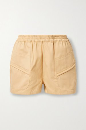 Prim Cotton-twill Shorts - Beige