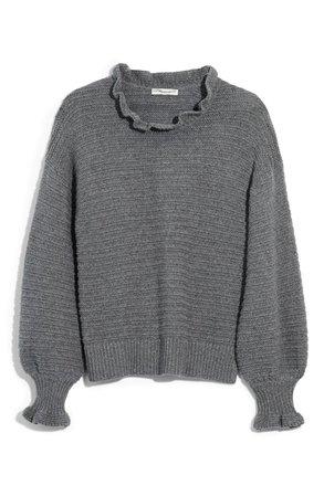 Madewell Ruffle Neck Sweater | Nordstrom
