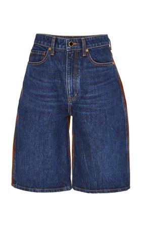 Khaite Mitch High-Rise Boyfriend Denim Shorts Size: 32