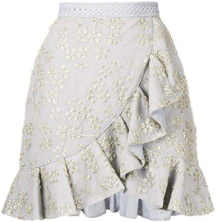 asymmetric frill skirt