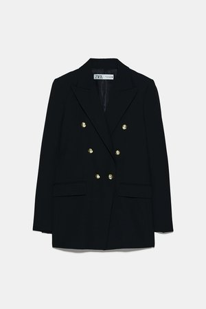 BLAZER WITH BUTTONS | ZARA United States black