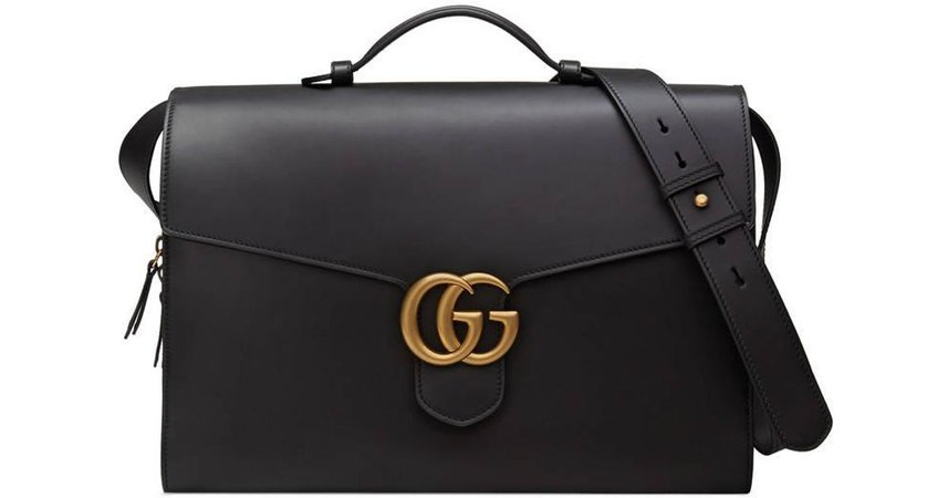 GUCCI Briefcase Leather Bag