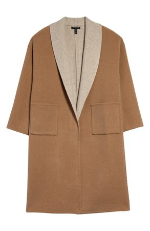 Eileen Fisher Double Face Wool & Cashmere Coat | Nordstrom