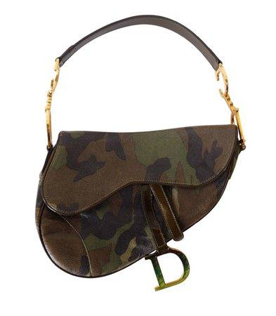 Dior Camouflage Saddle Bag