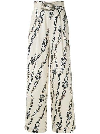 Framed Chain Wide Leg Trousers Aw19 | Farfetch.Com