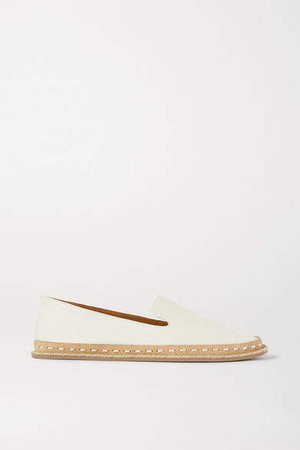 Cairo Leather Espadrilles - White