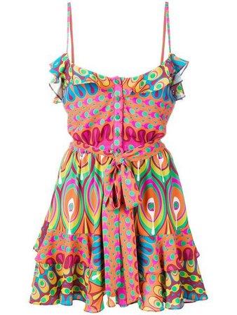 Alexis ruffle-trimmed Mini Dress - Farfetch