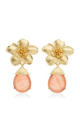 Cassia 24k Gold-Plated Jade Earrings By Valére | Moda Operandi