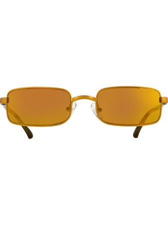 Linda Farrow Dries Van Noten Rectangular Sunglasses