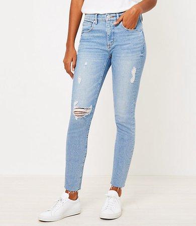Petite Skinny Jeans in Vivid Light Indigo Wash