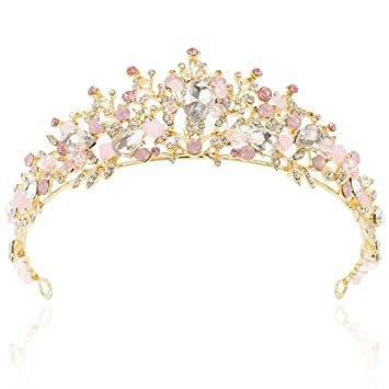 gold pink tiara - Google Search