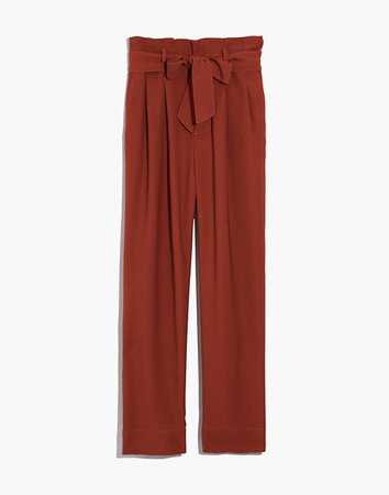 Women's Drapey Paperbag High-Rise Pants   Madewell