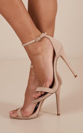 Billini - Dimity heels in nude | Showpo
