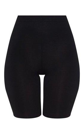 Basic Black Cycle Shorts - Shorts - PrettylittleThing | PrettyLittleThing
