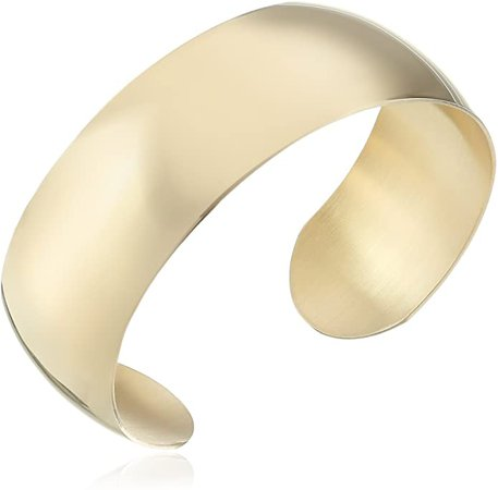 Amazon.com: 14k Yellow Gold-Filled High Polish Wide Cuff Bracelet: Jewelry