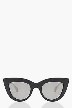 Contrast Monochrome Cat Eye Sunglasses