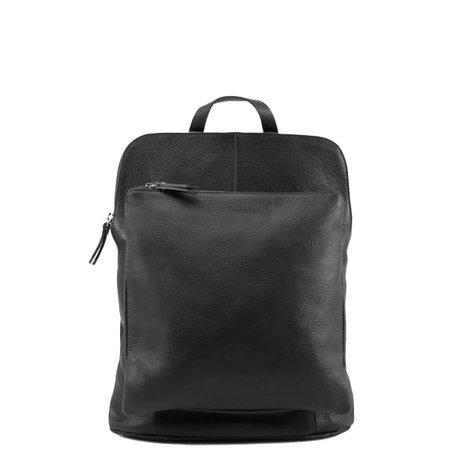 Black Pebbled Leather Backpack | Sostter | Wolf & Badger