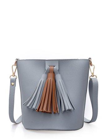 Bucket Shoulder Bag With Tassel