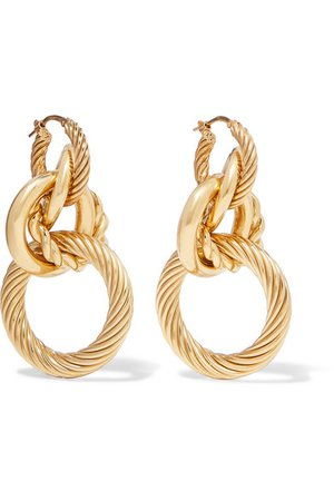 Bottega Veneta | Gold-tone earrings | NET-A-PORTER.COM