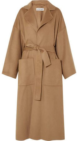 Oversized Belted Wool And Cashmere-blend Coat - Camel