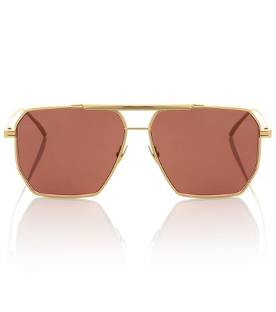 Square Aviator Sunglasses | Bottega Veneta - Mytheresa