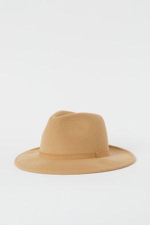 Фетровая шляпа - Бежевый - Женщины   H&M RU