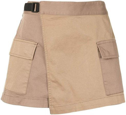Two-Tone Belted Shorts
