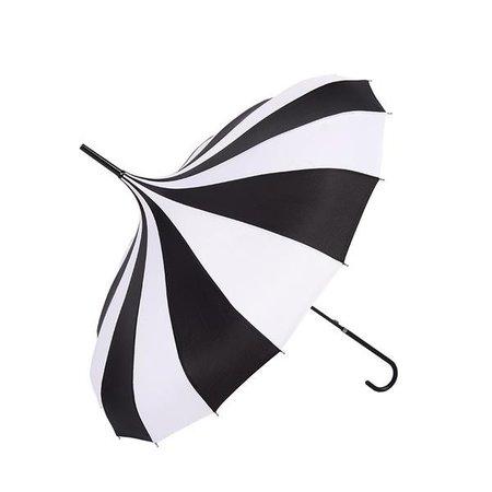 Gothic Black And White Pagoda Windproof Umbrella – ROCK 'N DOLL