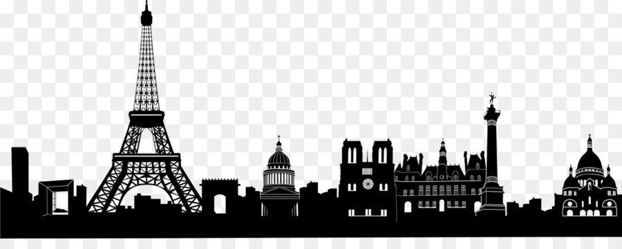 paris skyline clipart