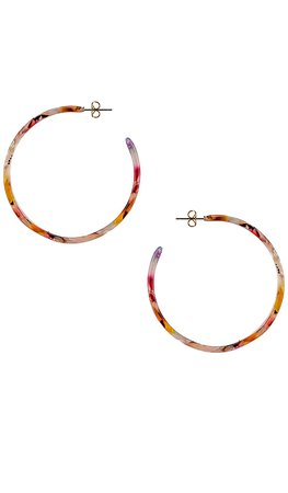 Ettika Hoop Earring in Rainbow | REVOLVE