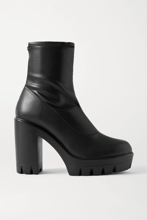 Black Blaze stretch-leather sock boots | Giuseppe Zanotti | NET-A-PORTER