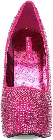 (Hot Pink Rhinestone) Pleaser Women's TEEZE-06R/HPSA-RS | Pumps