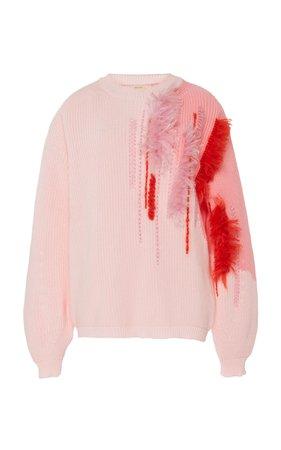 Embroidered Cotton Sweater by DELPOZO | Moda Operandi