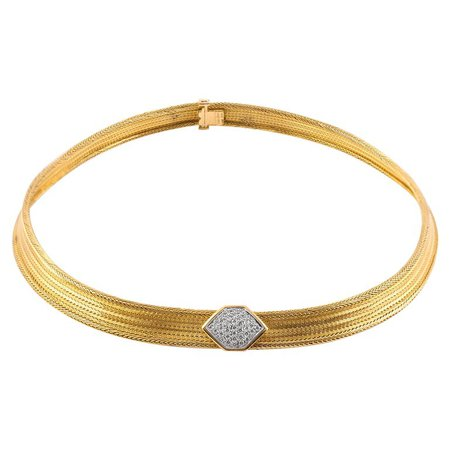 Cartier Gold Choker Necklace For Sale at 1stdibs