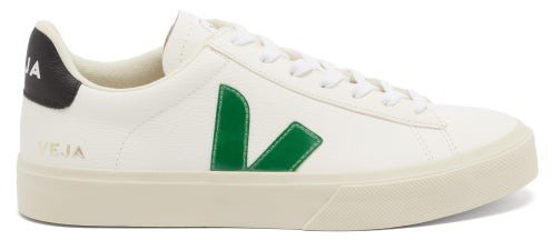 Campo Leather Trainers - Green White