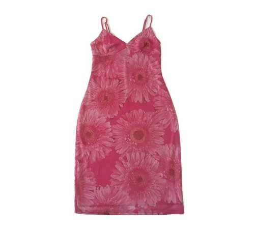 90s Pink Daisy Dress   Etsy