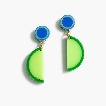 J.Crew: Edie Parker® X J.Crew Resin Lime Wedge Drop Earrings For Women