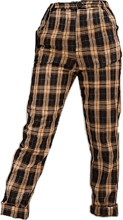 aesthetic clothes png pants yellow checkered