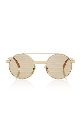 Versace Round Aviator-Style Sunglasses