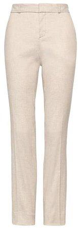 Ryan Slim Straight-Fit Stretch Linen-Cotton Pant