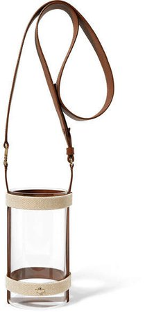 ZOOBEETLE Paris - Manhattan Leather And Canvas-trimmed Acrylic Shoulder Bag