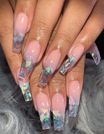 Long acrylic nails