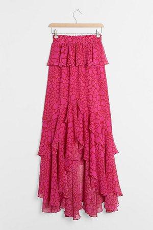 Chiarina Ruffled Maxi Skirt | Anthropologie