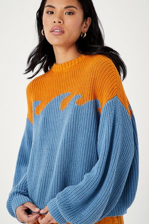 Organic Cotton Wave Sweater | Back Beat Co.