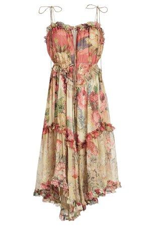 Melody Floating Silk Chiffon Dress Gr. 2