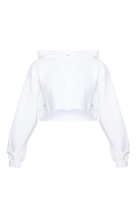 White Ultimate Oversized Crop Hoodie | Tops | PrettyLittleThing
